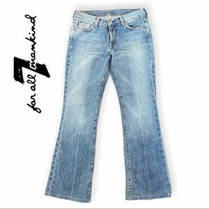 7 For All Mankind by Jerome Dahan Flare Blue Jeans